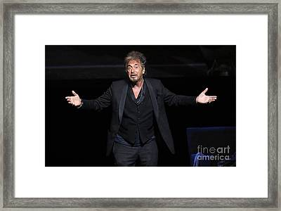 Actor Al Pacino Framed Print by Concert Photos