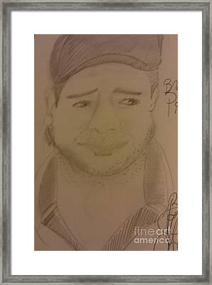 Actor Brad Pitts Framed Print