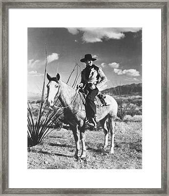 Actor Gary Cooper Framed Print