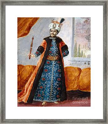 Actor In Oriental Costume In Role Of Suleiman Framed Print