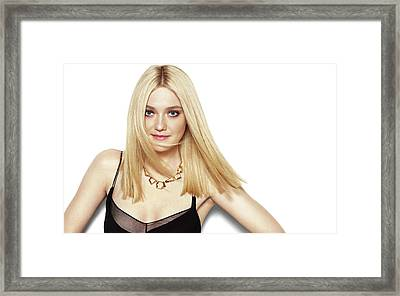 Actress Dakota Fanning Framed Print by F S
