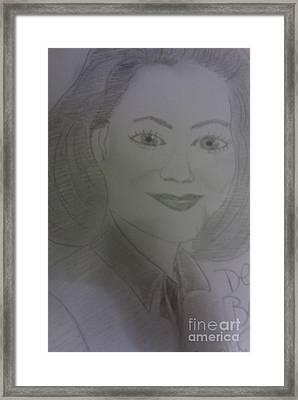 Actress Delta Burke Framed Print
