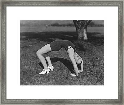 Actress Does Backbend Framed Print by Underwood Archives