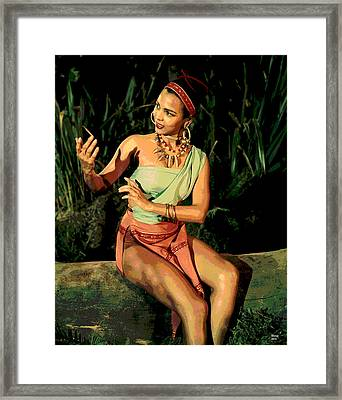 Actress Dorothy Fandridge Framed Print by Charles Shoup