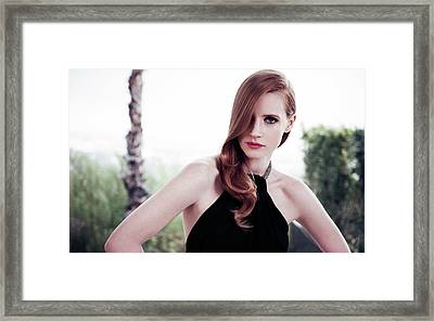 Actress Jessica Chastain Framed Print by F S