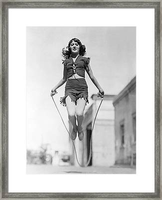 Actress Jumping Rope Framed Print by Underwood Archives