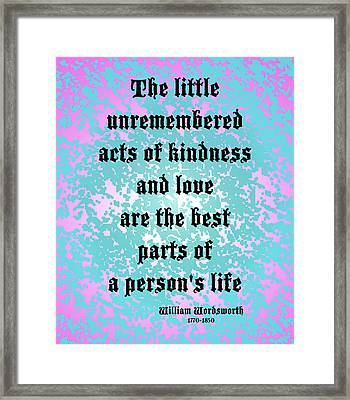 Acts Of Love Framed Print