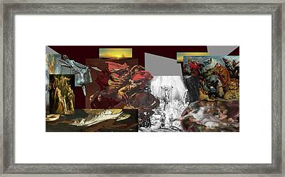 Framed Print featuring the digital art Acts Of War by David Bridburg