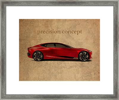 Acura Precision Concept Art Framed Print by Design Turnpike