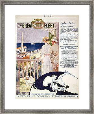 Ad: United Fruit Company Framed Print by Granger