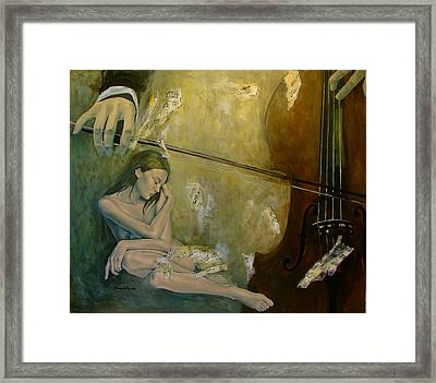 Adagio  Sentimental Confusion Framed Print by Dorina  Costras
