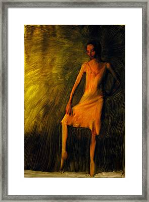 Framed Print featuring the painting Adajio by FeatherStone Studio Julie A Miller