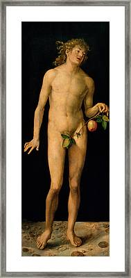 Adam Framed Print by Albrecht Duerer