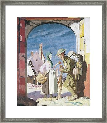 Adam And Eve At Peronne Framed Print