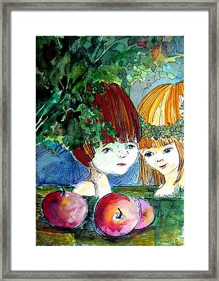 Adam And Eve Before The Fall Framed Print by Mindy Newman
