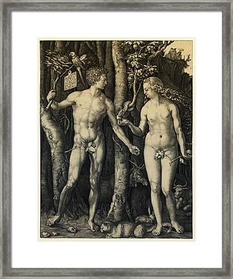 Adam And Eve Framed Print