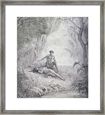 Adam And Eve Framed Print by Gustave Dore