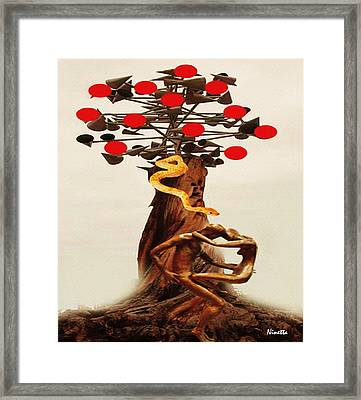 Adam And Eve In The Xxi Century Framed Print