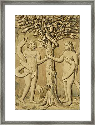 Adam And Eve Framed Print by Joseph Manning