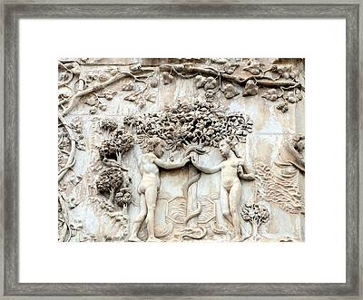 Adam And Eve Framed Print by Mindy Newman