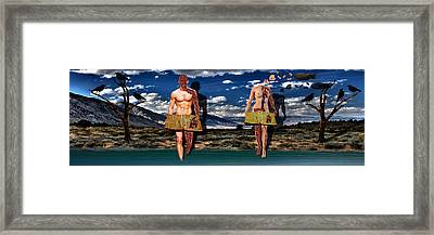Adam And Eve Framed Print by Solomon Barroa
