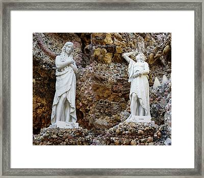 Adam And Eve Statue Framed Print