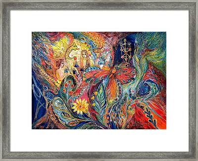 Adam And Hava Framed Print by Elena Kotliarker