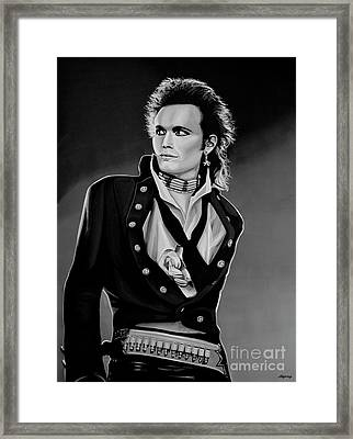 Adam Ant Painting Framed Print by Paul Meijering