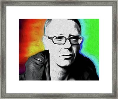 Adam Clayton U2 By Nixo Framed Print by Nicholas Nixo