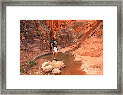 Adam Jewell At Red Cliffs Canyon Framed Print