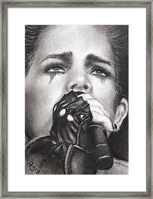 Adam Lambert Framed Print by Grace Rose