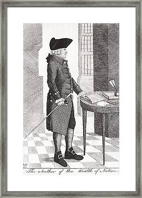 Adam Smith Author Of The Wealth Of Framed Print by Vintage Design Pics