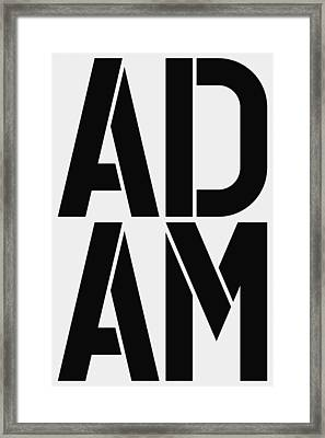 Adam Framed Print by Three Dots