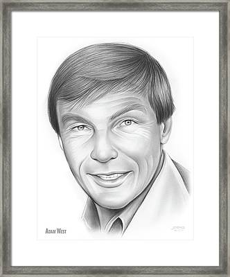 Adam West Framed Print