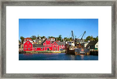 Adams And Knickle Fishing Company Framed Print