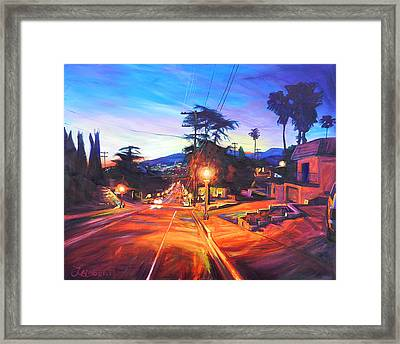 Twilight Passion Framed Print by Bonnie Lambert
