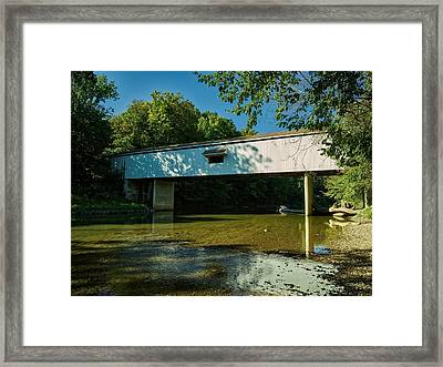 Adams Mill Covered Bridge - Carroll County Indiana Framed Print