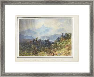 Adams Peak, Ceylon, 1870, By Nicholas Chevalier. Framed Print
