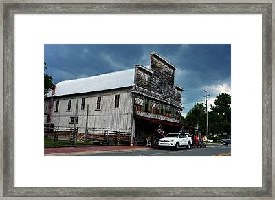 Adam's Store And Storm Framed Print