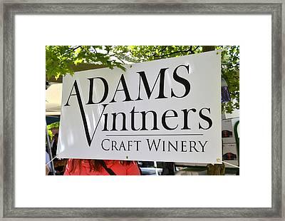 Adams Vintners Framed Print by Wayne Baer
