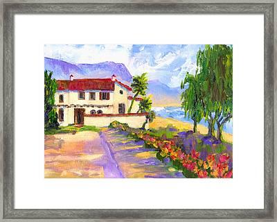 Adamson Home Malibu Framed Print by Randy Sprout