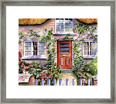 Framed Print featuring the painting Adare Ireland Cottage by Marti Green