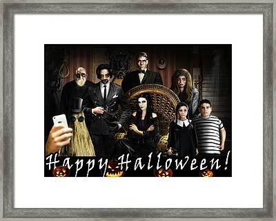 Addams Halloween Greeting Card Framed Print by Alessandro Della Pietra