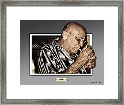 Addiction Framed Print by Nelson Rodriguez