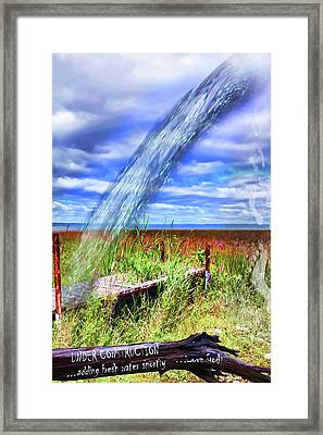 Adding Fresh Water Shortly Framed Print by Cathy  Beharriell