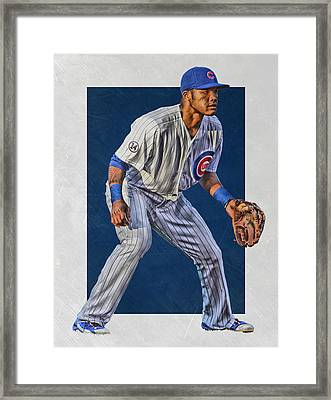 Addison Russell Chicago Cubs Art 2 Framed Print