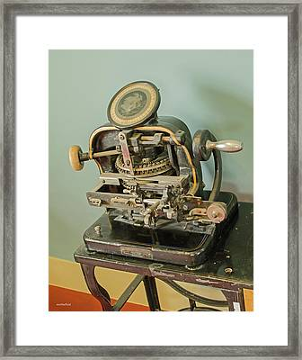 Addressograph Hand Graphotype Framed Print by Allen Sheffield