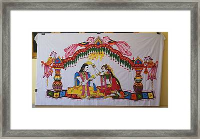 Addutara-marrege-curtain Framed Print