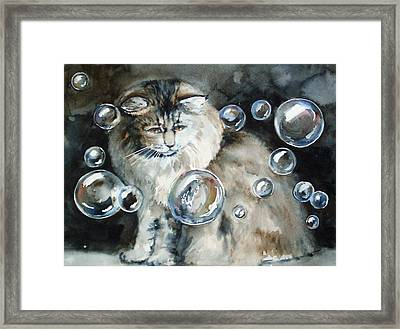Adelaide And Bubbles Framed Print