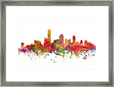 Adelaide Australia Cityscape 08 Framed Print